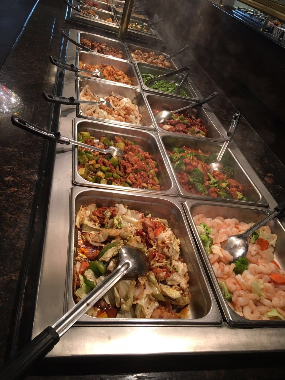 Chicken and Shrimp Buffet Bar